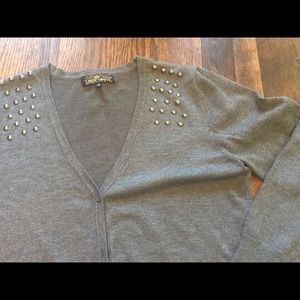 Almost Famous cardigan with Rivets Studs Large